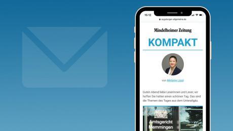 """In Zukunft erhalten Sie über unsere NewsApp von Montag bis Freitag jeden Abend unseren neuen lokalen Newsletter """"Mindelheimer Zeitung Kompakt""""."""