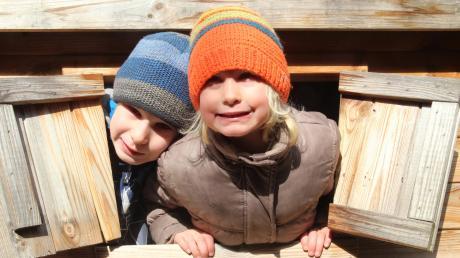 Reinklettern, rausschauen: Die märchenhaften Häuschen bieten für Kinder eine Menge Spaß.