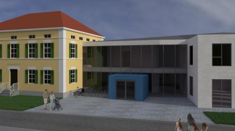 Der neue Erweiterungsbau an den Kindergarten in Wiedergeltingen soll nicht wie das bestehende Gebäude mit einem Ziegeldach gedeckt werden. Stattdessen entschieden sich die Gemeinderäte für eine Eindeckung aus Aluminium.