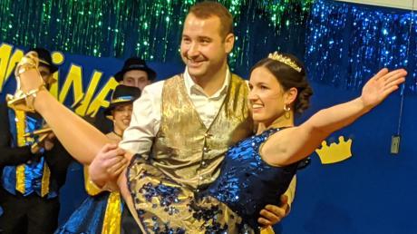 Das Prinzenpaar um Christian I. und Eva I. beim Showtanz.