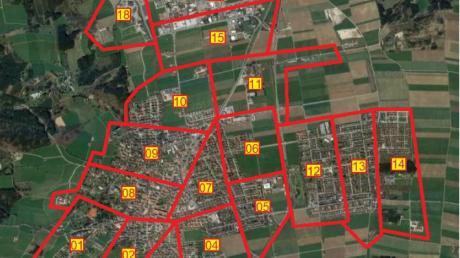 In mehreren Flügen wird eine Drohne ab Montag die Grundstücke im Stadtgebiet von Bad Wörishofen aufnehmen.