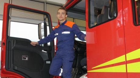 Eines Tages ein großes Einsatzfahrzeug führen: Wenn es nach Manuel Hauser geht, könnte er sich eine Ausbildung zum Maschinisten bei der Siebnacher Feuerwehr sehr gut vorstellen.