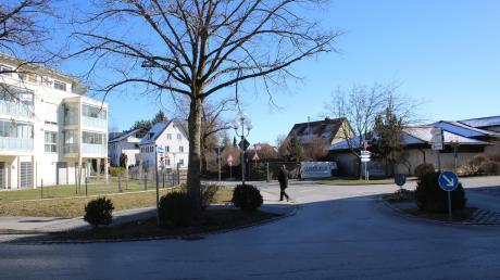 Die sogenannte Pescatore-Kreuzung in Bad Wörishofen. Die neuseeländische Schriftstellerin verbrachte acht Monate in Bad Wörishofen. Ihre Pension stand dort, wo mittlerweile der Mansfield-Wohnpark (links) entstanden ist.