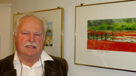 Karl Boesen malt vor allem Aquarelle. Er liebt mediterrane Landschaften, widmet sich jedoch auch gern Motiven aus er Heimat. Seine Bilder sind derzeit im Salon des Kunstvereins zu sehen.