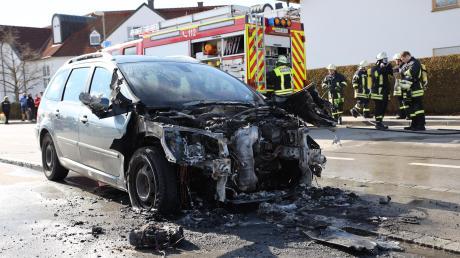In Mindelheim ist ein Auto ausgebrannt.