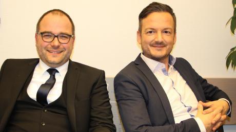 Ralf Wohlfahrt (links) von den Freien Wählern fordert bei der Bürgermeisterwahl in Markt Wald Amtsinhaber Peter Wachler von der CSU heraus.