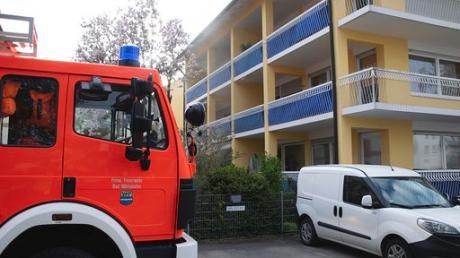 Ein Feuer am Gärtnerweg sorgte für einen größeren Einsatz in Bad Wörishofen.
