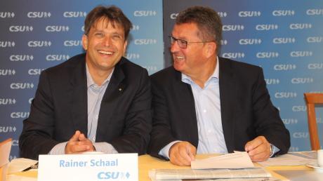 Ende September 2019 war die Welt noch in Ordnung: Stolz präsentierte damals Franz-Josef Pschierer (rechts) Rainer Schaal als Landratskandidaten der CSU.