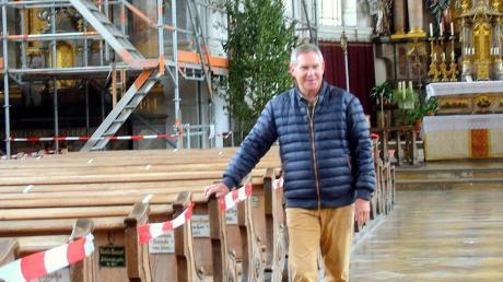 Kirchenpfleger Gerald Kraus steht die Renovierung der Pfarrkirche St. Stephan bevor.