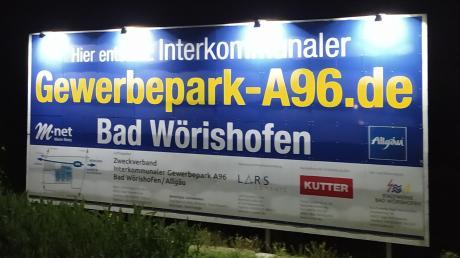 An der A96 bei Bad Wörishofen entsteht ein Gewerbepark.