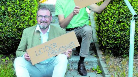 Geschäftsführer Johannes Müller (hinten) und Bürgermeister Robert Sturm bedauern die Absage von KULTur.gut 2020, freuen sich aber jetzt schon auf die Neuauflage im Herbst 2021.