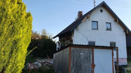 In Ettringen ist ein älteres Haus teilweise eingestürzt.