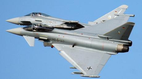 Zwei Eurofighter waren auf dem Weg nach Neuburg an der Donau, als eines der Flugzeuge über Bad Wörishofen von einem Laserstrahl erfasst wurde.