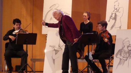 """Heinrich Klug leitete die Veranstaltung """"Classic for Kids"""", in der es um Beethoven ging."""