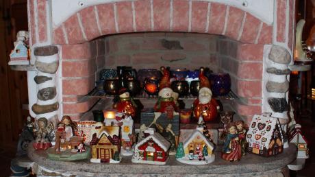 Der Kamin ist in der Adventszeit bewohnt.