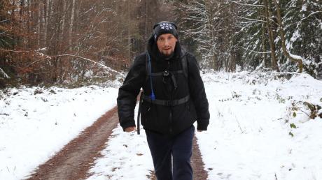 """Jens Schurat wollte bei seinem 24-Stunden-Marsch für die Charity-Aktion """"99 Kinderaugen sollen leuchten"""" 100 Kilometer schaffen. Er war gut unterwegs und topfit."""