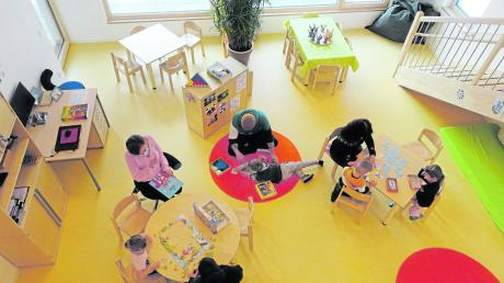 Im neuen Anbau des Kindergartens St. Elisabeth wird die Notfallbetreuung für Mädchen und Buben organisiert. Bis zu 30 Kinder fühlen sich in den neuen Räumlichkeiten wohl.