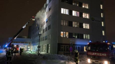 Feuerwehreinsatz im Klinikum Kaufbeuren.
