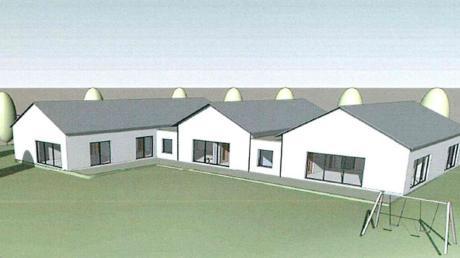 So soll der Neubau des Kindergartens in Zaisertshofen etwa aussehen. Weil es mehr Fördergelder geben könnte als erwartet, könnte der Bau deutlich günstiger werden als geplant.