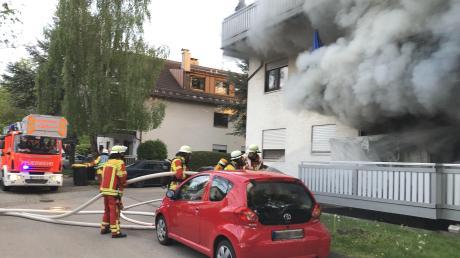 Brandeinsätze waren für die Freiwillige Feuerwehr Bad Wörishofen auch im Jahr 2020 zu bewältigen. Das Training für solche Situationen war in der Corona-Pandemie dagegen oft nicht möglich.