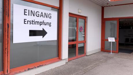 Das Impfzentrum in Bad Wörishofen. Die Zahl der Erstimpfungen geht zurück.