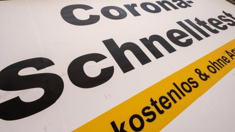 Die Corona-Teststation in Altenmünster stellt ihren Betrieb zum Ende des Monats ein.