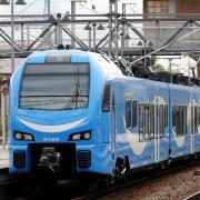 Rollte für eine Schulungsfahrt durch das Allgäu: Ein weiß-blau lackierter Zug des Anbieters Go-Ahead.