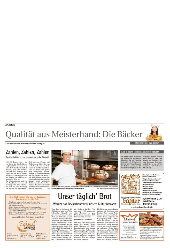 Qualität aus Meisterhand: Die Bäcker und Fleischer