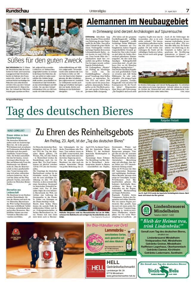 Tag des deutschen Bieres am 23.04.2021