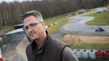 Ralf Schumacher an der Kartstrecke in Kerpen.
