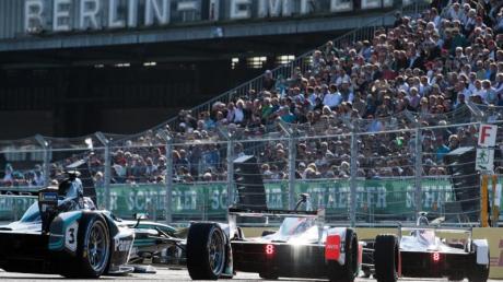 Die Formel E ist wieder auf dem ehemaligen Flughafen Tempelhof in Berlin zu Gast. Foto: Bernd von Jutrczenka