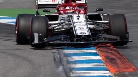 Hatte beim Rennen auf dem Hockenheimring eine Zeitstrafe erhalten: Kimi Räikkönen vom Team Alfa Romeo Sauber F1.