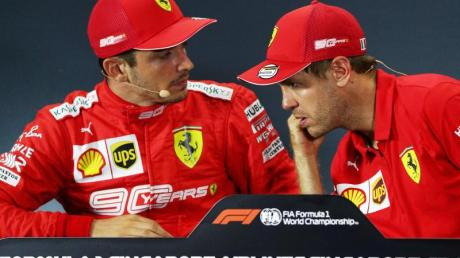 Teamkollegen und Konkurrenten zugleich: Charles Leclerc (l) und Sebastian Vettel. Foto: Yong Teck Lim/dpa