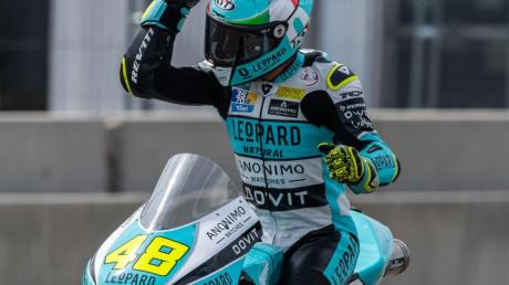 Lorenzo Dalla Porta ist der neue Champion in der Moto3-Klasse. Foto: Robert Michael/zb/dpa