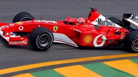 Soll versteigert werden: Der Formel-1-Rennwagen F2002 von Michael Schumacher.