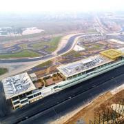 Blick auf die noch im Bau befindliche neue Formel-1-Rennstrecke in Hanoi.