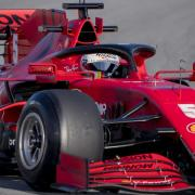 Sorgte bei den Testfahrten in Barcelona für eine Unterbrechung: Ferrari-Pilot Sebastian Vettel.