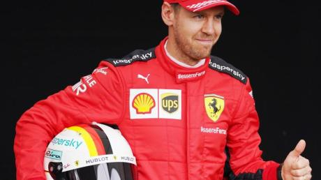Ferrari-Star Sebastian Vettel hat seinen neuen Boliden «Lucilla» getauft.