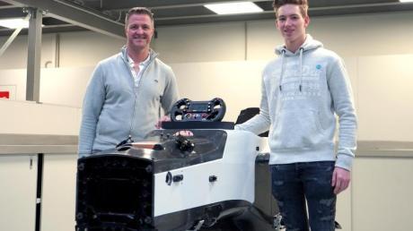 Der ehemalige Formel-1-Fahrer Ralf Schumacher und sein Sohn David.