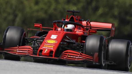 Ferrari-Pilot Sebastian Vettel beim Training in Spielberg.