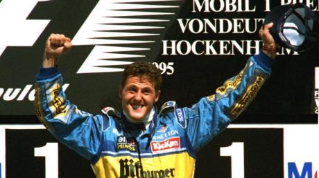 Der erste Deutsche, der ein Formel-1-Rennen in Deutschland gewinnt: Michael Schumacher.