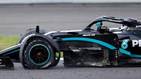 Mercedes-Pilot Lewis Hamilton war vor zwei Wochen in Silverstone der Reifen geplatzt.