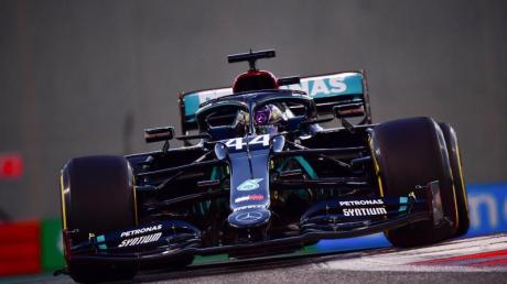 Lewis Hamilton beim Training in Abu Dhabi.
