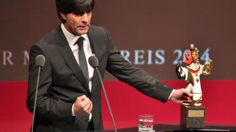 Bundestrainer Joachim Löw hielt beim Medienpreis eine emotionale Rede.