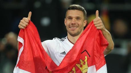 Würde sich bei Olympia 2020 gerne noch einmal das DFB-Trikot überstreifen: Lukas Podolski Foto: Ina Fassbender