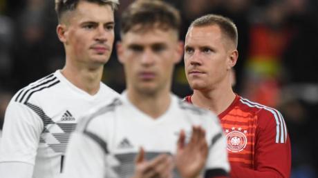 Führte die DFB-Elf erstmals als Kapitän auf den Platz: Joshua Kimmich. Foto: Bernd Thissen/dpa