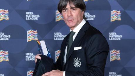 El seleccionador alemán de fútbol, Joachim Löw, en el sorteo de los grupos de la Liga de Naciones.