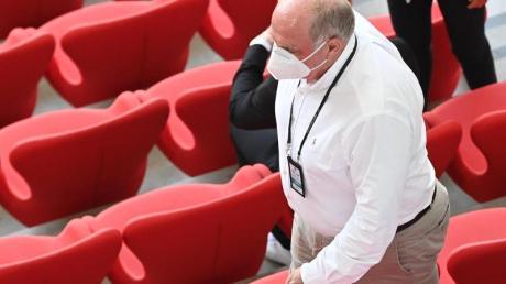 Uli Hoeneß beim EM-Vorrundenspiel Portugal gegen Deutschland in München.