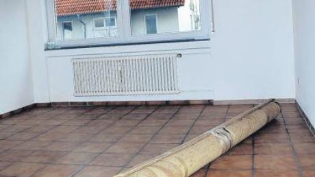 Die leer stehende Wohnung von Filiz Gelowicz in Ulm am Haslacher Weg/Böfinger Weg vor etwa einem Jahr.