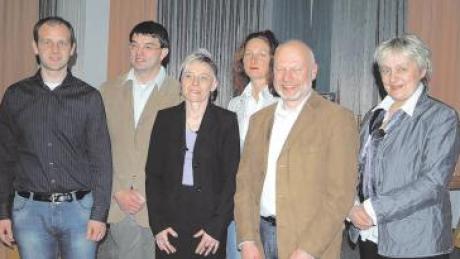 Dr. Albert Riedel, Wolfgang Kösel, Christine Seidel, Barbara Keppeler, Gerhard Jehle und Jolanta Reichenberger (von links).